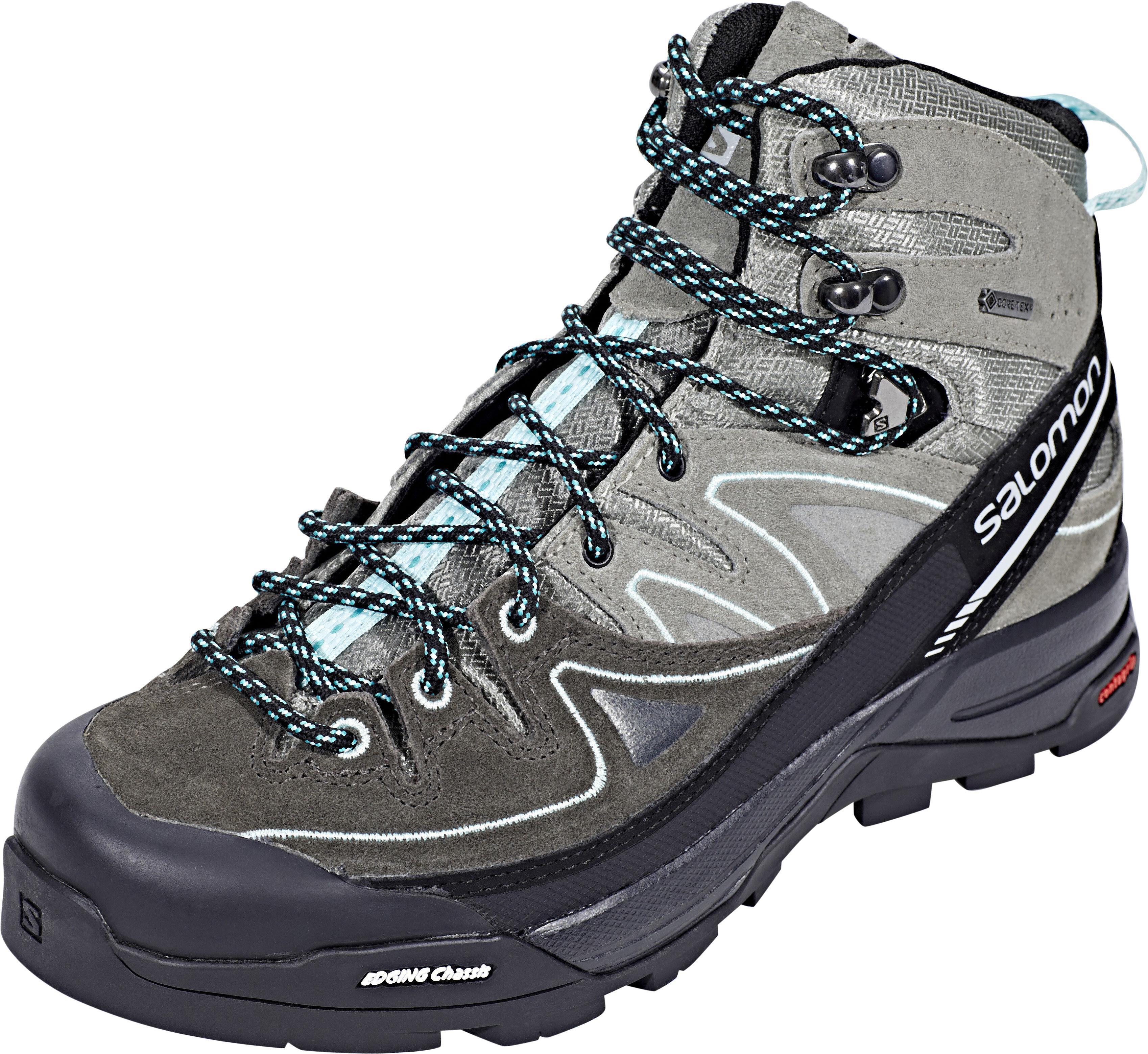 3d1b27a4ac52 Salomon X Alp LTR GTX Hiking Shoes Women Shadow Castor Gray Aruba Blue